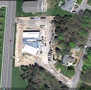 The Campus at In Christ viewed from satellite